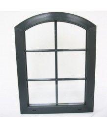 Okno elipsa 85x70cm, Uchył, białe
